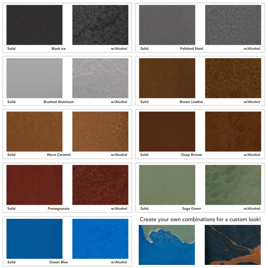 Metallic Flooring Chart